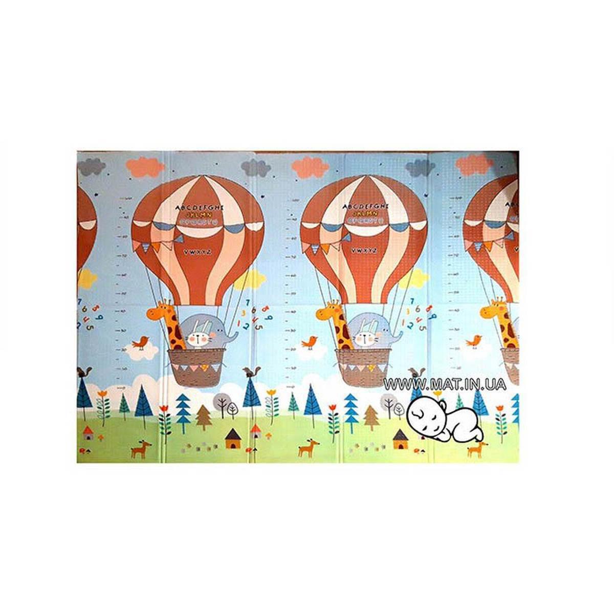 Детский игровой коврик для ребенка Мишка на воздушном шаре