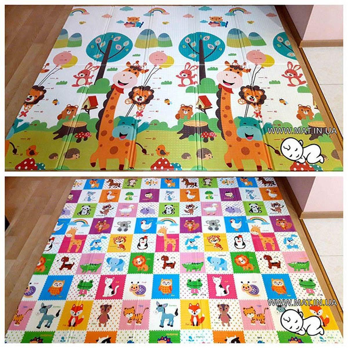 игровой коврик для ребенка Веселый Жираф и Пазлы