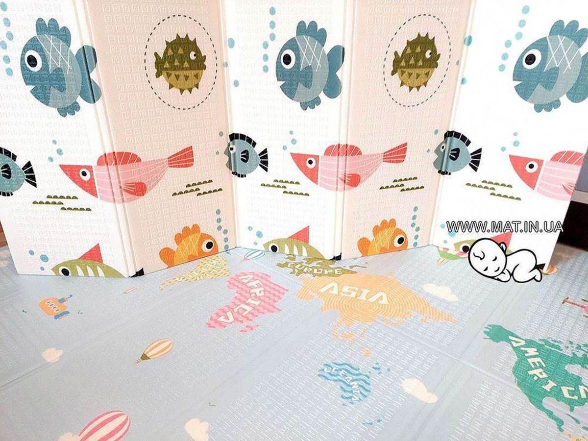Купить детский коврик РЫБЫ-КАРТА в Украине