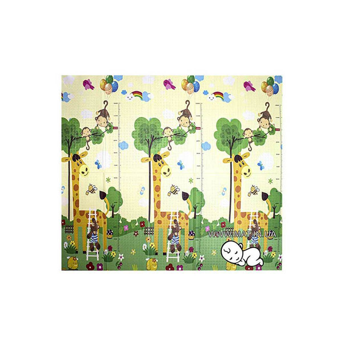 детский коврик Жираф и Веселые животные