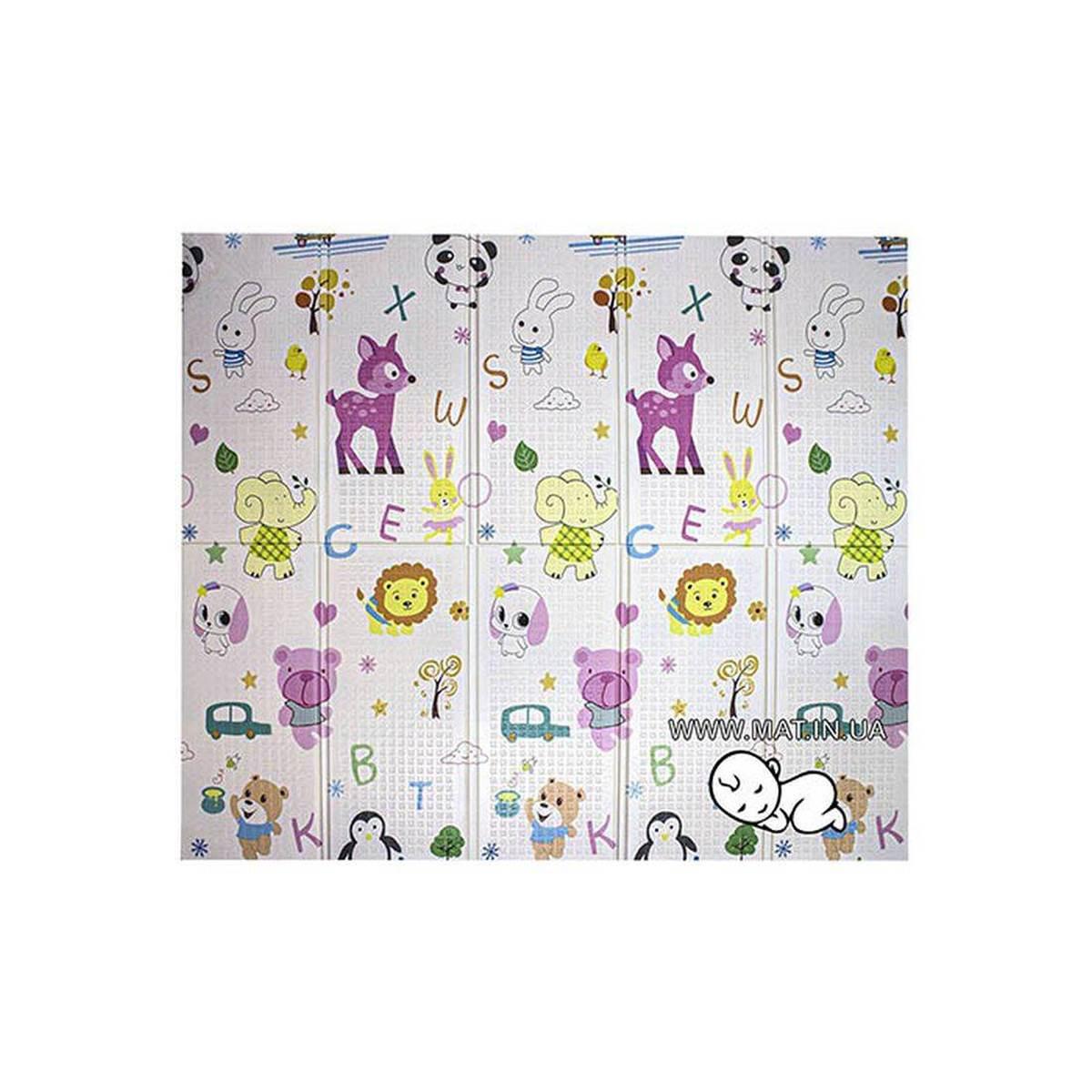складной детский  коврик Жираф и Веселые животные